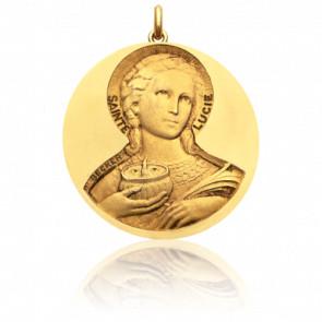 Médaille Sainte Lucie Or Jaune 18K - Becker