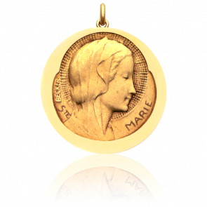Médaille Sainte Marie Or Jaune 18K