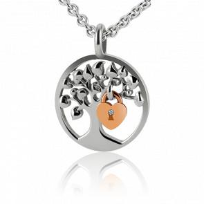 Collier Lock & Love Diamant Argent