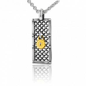 Collier Lock & Love Grille des Amoureux, Diamant & Argent