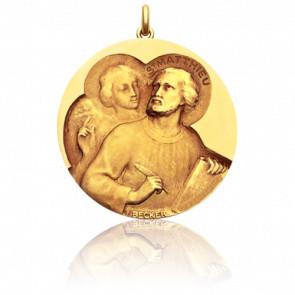 Médaille Saint Matthieu Or Jaune 18K
