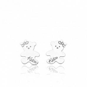 Boucles d'Oreilles Oursinettes Or Blanc 18K