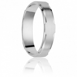 Alliance Arequipa 4,5 mm Or Blanc 18K