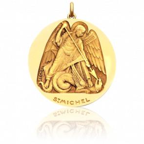 Médaille Saint Michel Or Jaune 18K - Becker