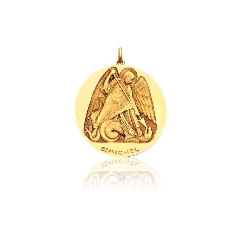 Médaille Saint Michel Or Jaune 18K