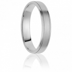 Alliance Montevideo 4 mm Or Blanc 18K