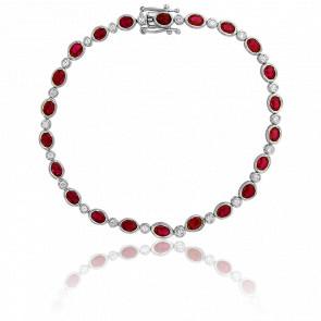 Bracelet Ines Or Blanc Diamants & Rubis
