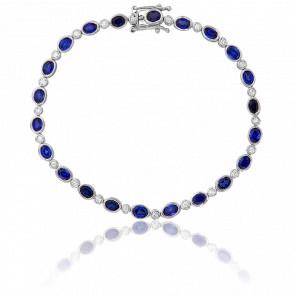 Bracelet Ines Or Blanc Diamants & Saphirs