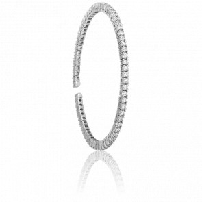 Bracelet Amelia Or Blanc & Diamants - Ancelys