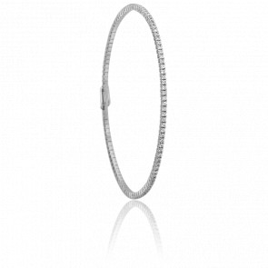 Bracelet Inaya Or Blanc & Diamants - Ancelys