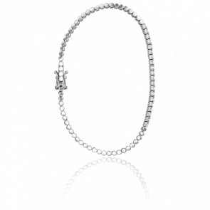 Bracelet Nora Or Blanc & Diamants - Ancelys