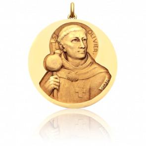 Médaille Saint Olivier Or Jaune 18K - Becker