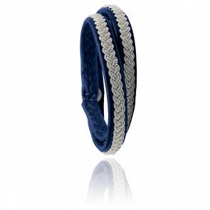 Bracelet Double-Tour Two Samis Bleu Marine