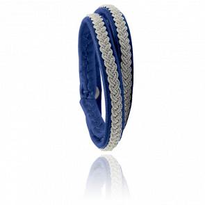 Bracelet Double-Tour Two Samis Bleu