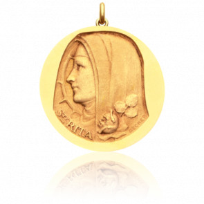 Médaille Sainte Rita Or Jaune 18K - Becker