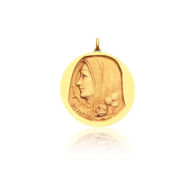 Médaille Sainte Rita Or Jaune 18K
