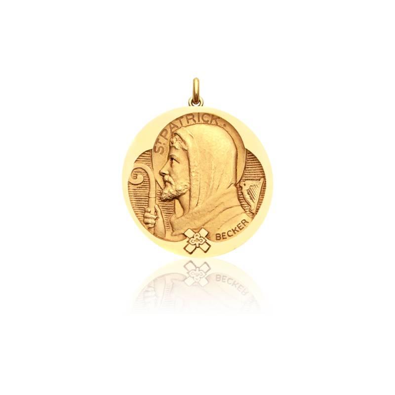 Médaille Saint Patrick Or Jaune 18K