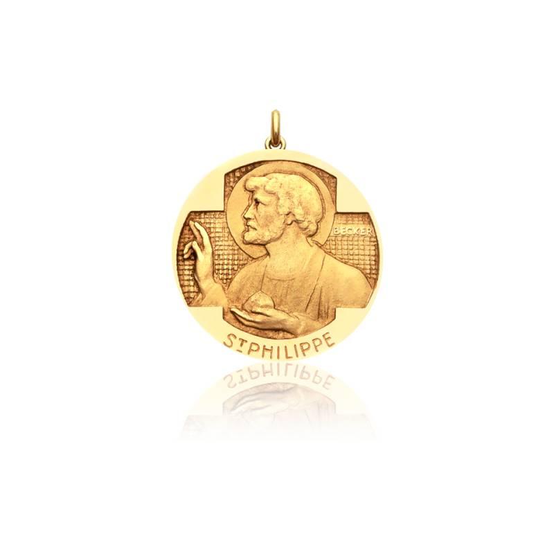 Médaille Saint Philippe Or Jaune 18K
