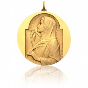 Médaille Sainte Sabine Or Jaune 18K