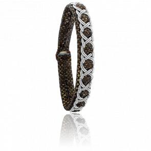Bracelet Aurore Reptile Cuivré