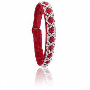 Bracelet Aurore Reptile Rouge