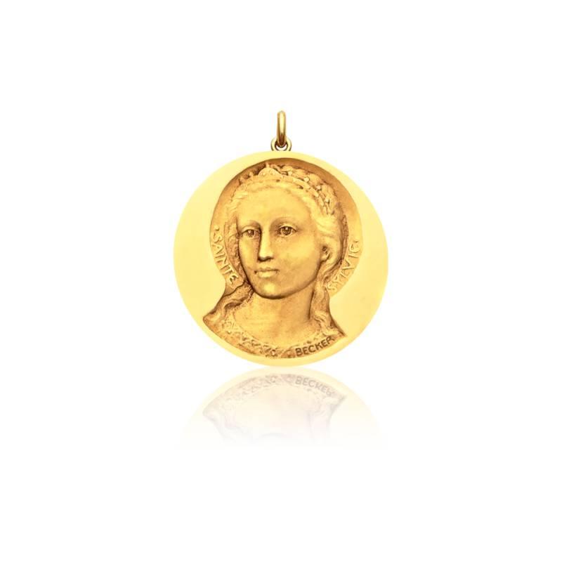 Médaille Sainte Sylvie Or Jaune 18K