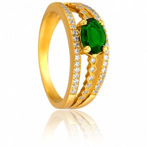 Bague Alix Or Jaune & Diamants Emeraude