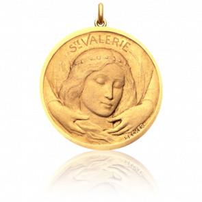 Médaille Sainte Valérie Or Jaune 18K