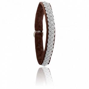 Bracelet Double 4 Chocolat