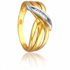 Bague Pivoine 2 Ors & Diamants