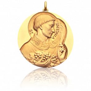 Médaille Saint Vincent Or Jaune 18K
