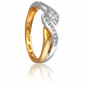 Bague Lilas Or Blanc & Diamants