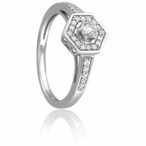 Bague Lucie Or Blanc & Diamants