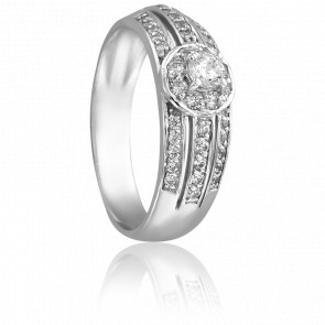 Bague Camille Or Blanc & Diamants