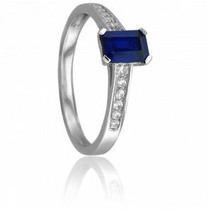 Bague Mia Or Blanc & Diamants Saphir