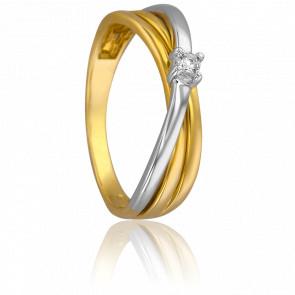 Bague Orchidée 2 Ors & Diamants