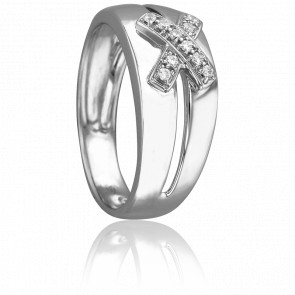 Bague Jasmine Or Blanc & Diamants