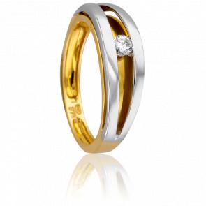 Bague Marguerite 2 Ors & Diamant
