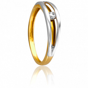 Bague Magnolia 2 Ors & Diamants