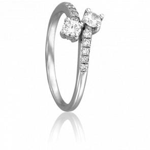 Bague Stella Or Blanc & Diamants