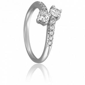 Bague Luna Or Blanc & Diamants
