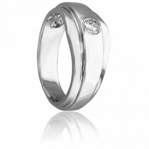 Bague Oliver Or Blanc & Diamants