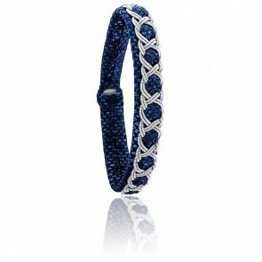 Bracelet Aurore Reptile Bleu
