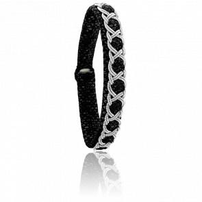 Bracelet Aurore Reptile Noir