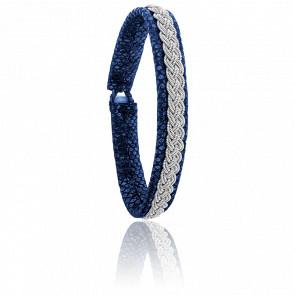 Bracelet Double 4 Reptile Bleu
