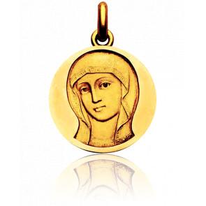 Médaille Vierge Byzantine Or Jaune 18K