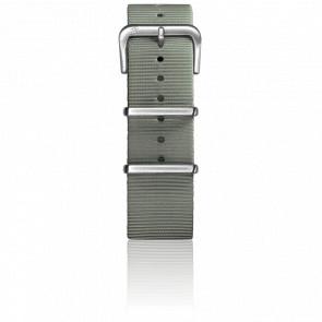 Bracelet Nylon Type Nato 22mm Grey boucle acier