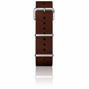 Bracelet Cuir Nato Dark Brown 20mm
