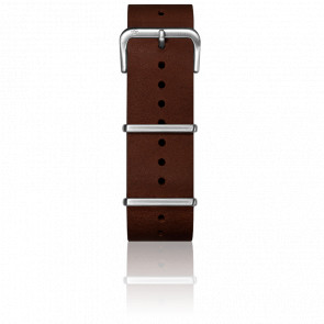 Bracelet Cuir Nato Dark Brown 22 mm