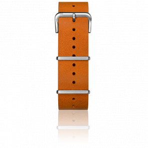 Bracelet Cuir Nato Orange 22 mm